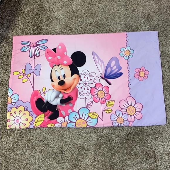Disney Other - Disney Minnie Mouse Standard Pillowcase PinkPurple